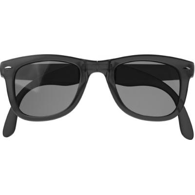 Image of Foldable frosted sunglasses.
