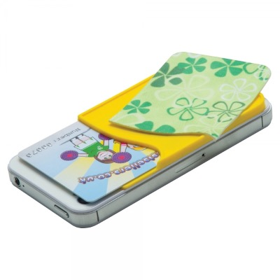 Image of Silicone Smart Wallet with Sticky Screen Cleaner