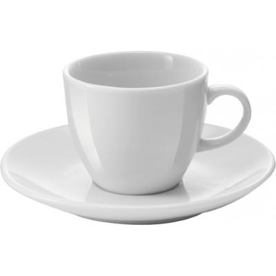 Image of White porcelain cup and saucer, 100cc/ml. sold per 72pcs