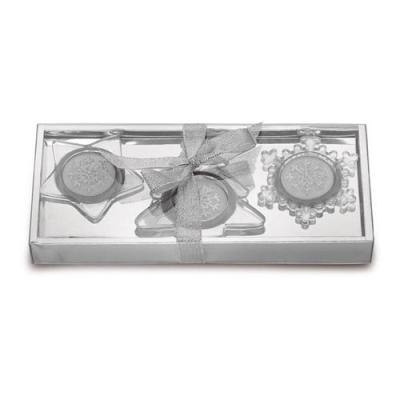 Image of Set of 3 glass candle holders