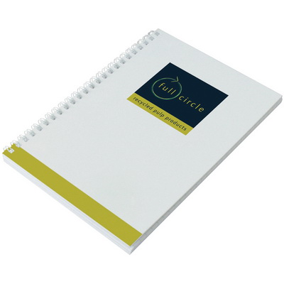 Image of Enviro-Smart White Cover Notepad A5