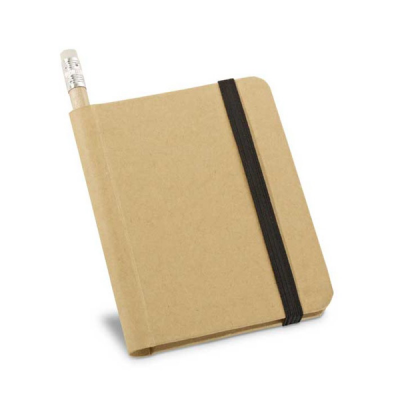 Image of Hardcover Recycled Notepad With Pencil