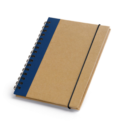 Image of Hardcover Cardboard Notepad With Recycled Sheets