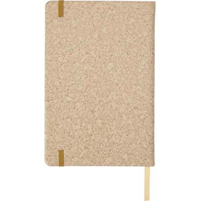 Image of PU covered notebook with cork print (A5)