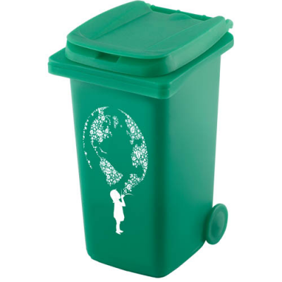 Image of Recycled Wheelie Bin Pen Pot