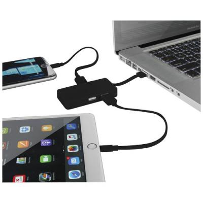 Image of Grid USB Hub with Dual Cables